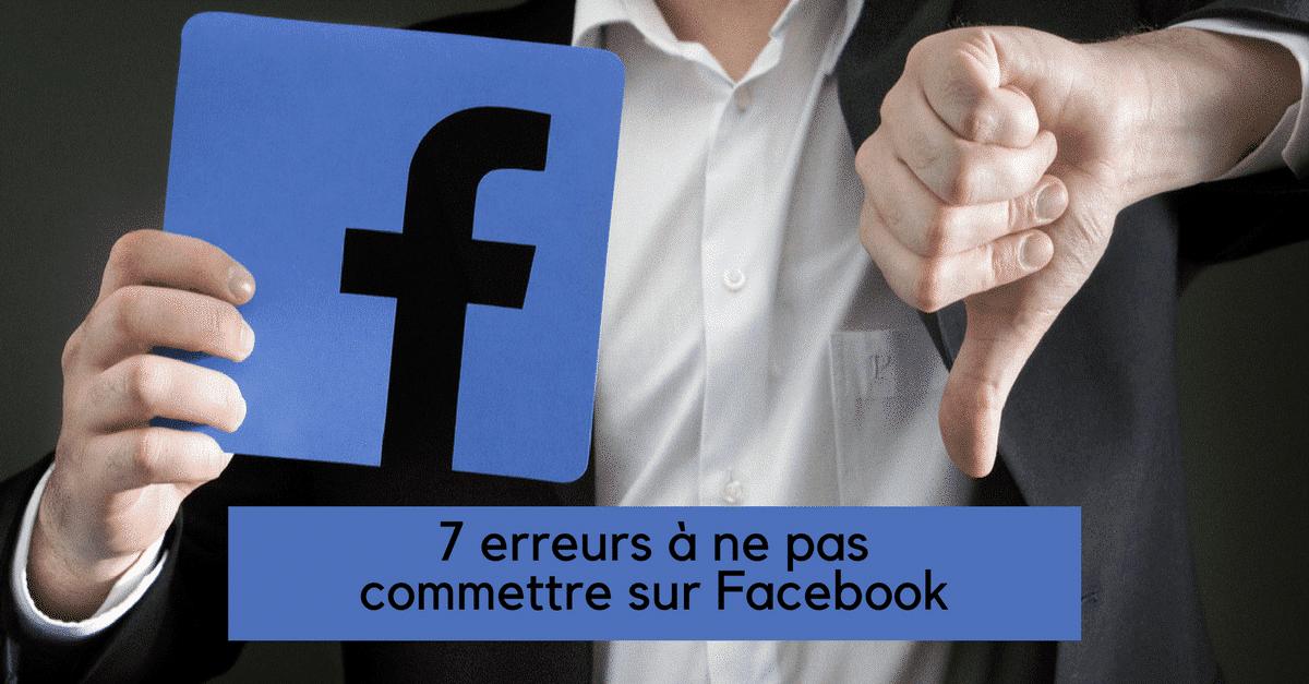 erreurs facebook